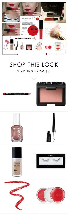 """Inglot hd tint no.12"" by aleksa ❤ liked on Polyvore featuring beauty, NYX, NARS Cosmetics, Essie, Inglot, Pupa, Clinique, Kate Spade, Beauty and makeup"