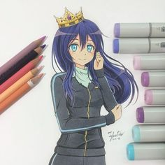 Here's the completed drawing for Yato's genderbend from Noragami! I'm honestly not very satisfied with this one but I hope that you guys like it more than I do Also, which types of drawings do you guys prefer more, bust/headshots or full body? Lmk in the comments below! I'm still experimenting with my drawings so stay tuned for more~ - #anime #animeart #animegirl #animearttr #animeartshelp #animeartassistant #kawaii #kawaiigirl #prismacolor #copic #copicart #copicdrawing #copicmarkers…