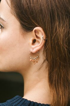 Visit the Luna Tide store to shop boho gemstone jewellery, like our sunstone statement hoop earrings, inspired by Mother Nature's beauty. Fringe Earrings, Beaded Earrings, Statement Earrings, Hoop Earrings, Bohemian Girls, Gold Filled Jewelry, Beautiful Gift Boxes, Pink Tourmaline, Gemstone Jewelry