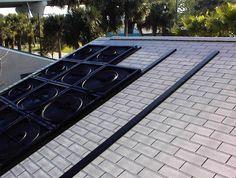 My Homemade Solar Pool Heater Electric Heat Pump, Solar Pool Heater, Outdoor Living, Outdoor Decor, Diy Solar, Sheet Metal, Metal Roof, Solar Panels, Solar Power