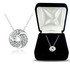 925 Silver 1/4ct Diamond Love Knot Necklace, (H-I, I2) http://zingxoom.com/d/cwHHJ7RS