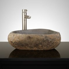 Ebey Gray River Stone Vessel Sink