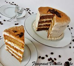 Vegan Tiramisu Layer Cake from Fragrant Vanilla Cake
