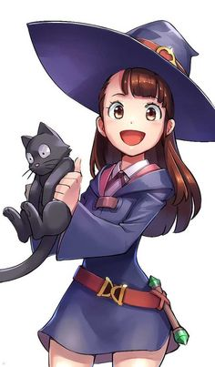 Little Witch Academia, Akko, by Sirious Long Fanarts Anime, Anime Characters, Chica Anime Manga, Anime Art, Totoro, Lwa Anime, My Little Witch Academia, Little Witch Academia Characters, Witch Drawing