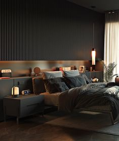 Cozy Bedroom design idea // cgi visualization by Diego Drews. Visualization & Models done in Autodesk Max, Corona Renderer & Vray for Max. Modern Luxury Bedroom, Luxury Bedroom Design, Master Bedroom Interior, Modern Master Bedroom, Bedroom Furniture Design, Home Room Design, Master Bedroom Design, Luxurious Bedrooms, Home Bedroom