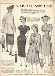 A simpler new look, c. 1947/48.