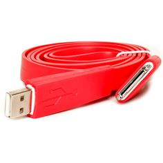 iPad/iPhone 10 Foot USB Data Sync & Charger Cord In Red