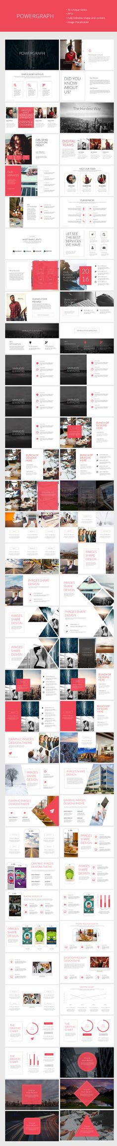 84 best free presentation templates images on pinterest powergraph clean powerpoint template toneelgroepblik Image collections