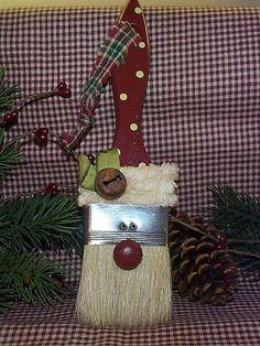 Brocha de Papa Noel en manualidades.