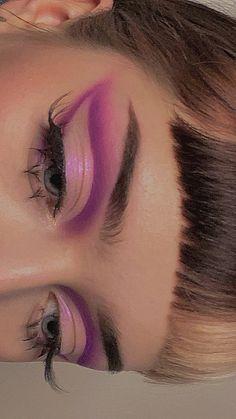 Dope Makeup, Edgy Makeup, Baddie Makeup, Makeup Eye Looks, Eye Makeup Art, Makeup Goals, Pretty Makeup, Skin Makeup, Eyeshadow Makeup