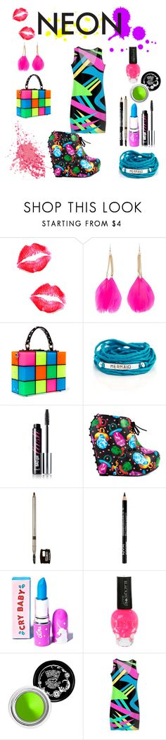 """Neon goddess"" by fairytale-reality ❤ liked on Polyvore featuring beauty, Forever 21, Dolce&Gabbana, Blooming Lotus Jewelry, Benefit, Iron Fist, Laura Mercier, Lime Crime and Hot Topic"