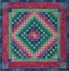"""Amish Trip Around the World Quilt"" counted thread/canvas by From Nancy's Needle."