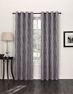 The Travis blackout window curtains are the decor update you have been looking for. Specialized yarns are used to create a soft modern wave pattern. This beautiful window curtain also boasts Blackout ...