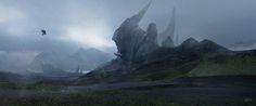 Tulip mountain, Eren ARIK on ArtStation at https://www.artstation.com/artwork/egdXG