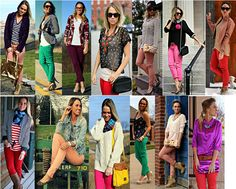 wearing colorful pants--need to get over only wearing white or neutral with colored bottoms