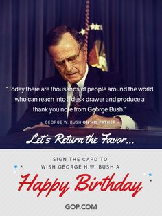 George H. Bush has been an active humanitarian since leaving office. After the devastation of Hurricane Katrina, Bush and former president Bill Clinton formed the Bush-Clinton Katrina Fund to help victims in Louisiana. Republican Presidents, Republican Party, Us Presidents, Former President, Vice President, Happy Birthday George, Hw Bush, Our Legacy, Thank You Notes