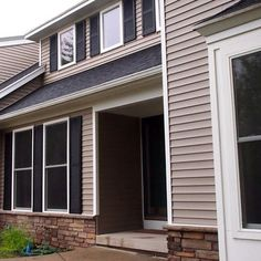 Half Brick Half Vinyl Siding Single Story Home Google