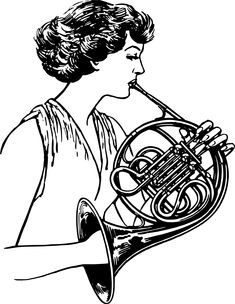 French horn 2 by Firkin