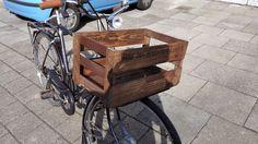 Industrialstyle.de: DIY Shabby Weinkiste mit Fahrrad Front Gepäckträger - So…