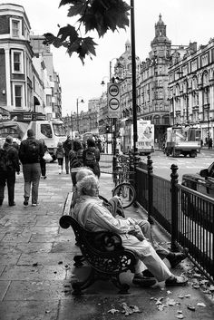 Knightsbridge in London - black and white photos