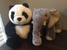 Kohl's Cares 2015 Nancy Tillman Collection Set Of 2 Elephant and Panda #KohlsCares