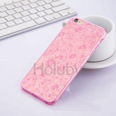 Joyroom Elegant Series Flower Pattern Ultrathin Flexible Soft TPU Back Case for iPhone 6 Plus 6S Plus Pink