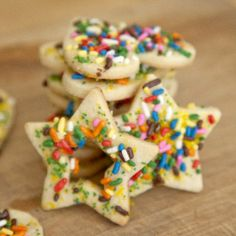 Classic Sugar Cookies decorated with fun sprinkles!
