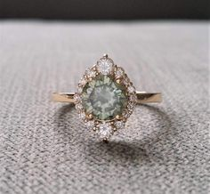 Gray Mint Moissanite Diamond Engagement Ring Halo Bohemian Art Deco Indian R . - Gray Mint Moissanite Diamond Engagement Ring Halo Bohemian Art Deco Indian Ring … – Gray Mint M - Wedding Rings Vintage, Vintage Rings, Wedding Jewelry, Bohemian Wedding Rings, Wedding Band, Vintage Diamond Rings, Dress Wedding, Indian Wedding Rings, Art Deco Wedding Rings