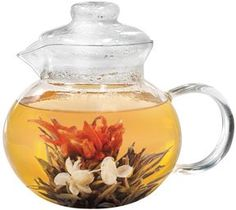coffee machines: Primula Blossom Glass Teapot with Loose Tea Infuser and 12 Flowering Green Teas Tea Pot Set, Pot Sets, Numi Organic Tea, Loose Tea Infuser, Tea Gift Sets, Green Tea For Weight Loss, Glass Teapot, Tea Tins, Flower Tea