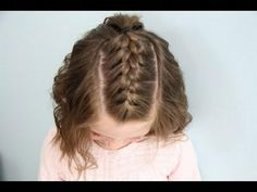 Braids On Top Of Head Collection single french braid back short hair cute girls hairstyles Braids On Top Of Head. Here is Braids On Top Of Head Collection for you. Braids On Top Of Head half up triple braid mini bun missy sue. Braids On Top . Short Hair For Kids, Braids For Short Hair, Short Hair Cuts, Hair Kids, Cute Braided Hairstyles, Cute Hairstyles For Short Hair, Little Girl Hairstyles, Girl Haircuts, Pretty Hairstyles