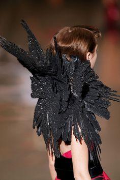 Alexander McQueen. Romance. Dark fashion.goth.  Noir. Black