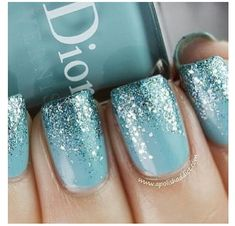 Ice blue and glitter