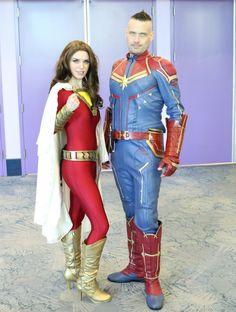 WonderCon 2019 Cosplay Captain Marvel and Shazam Genderbent Costumes Marvel, Got Costumes, Captain Marvel Costume, Costumes For Women, Cosplay Costumes, Awesome Costumes, Cosplay Ideas, Dc Anime, Anime Nerd