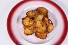 Daphne Oz's Seasoned Fries.  I kinda like to take shortcuts when I can, so I will buy the frozen potatoes, and let them thaw.  Make sure to blot off ALL of the excess dampness and water.  Toss in the spice mixture, and fry.  :)