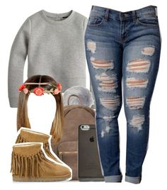"""""""Merry Christmas"""" by ariangrant on Polyvore featuring J.Crew, Glamorous, Agent 18, UGG Australia, H&M and AriIdeas"""