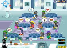 Penguin Diner 2 - Seat customers, take their orders, serve them food and drink, pick up their bill. More instructions in the game.
