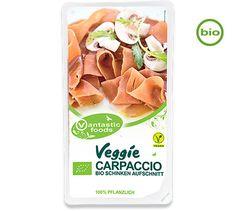 Vantastic Foods VEGGIE CARPACCIO, 100g - LEBENSMITTEL Wurstalternativen Aufschnitt / Brotbelag - ALLES-VEGETARISCH.DE
