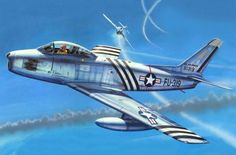 Sabre, Korean War, 1951 (Don Greer) Military Jets, Military Weapons, Military Aircraft, Fighter Aircraft, Fighter Jets, Sabre Jet, Aircraft Painting, Airplane Art, Aircraft Pictures