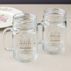 Personalized Printed Mason Jar Mug by Beau-coup