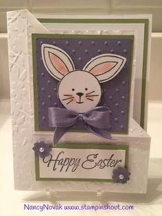 Stampin up easter cards, Easter Bunny. Stampin' Up! Friends & Flowers, #stampinupeastercards