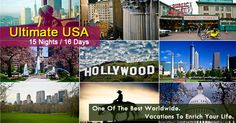 #USATourPackages  #HolidayinUSA  #USATours USA Tour Packages offer Holiday and #VacationPackages for USA 2015 from Delhi India with top class accommodation to five star excursions and experiences.