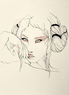Ilustraciones del zodíaco / Zodiac illustrations by Elisa Ancori, via Behance