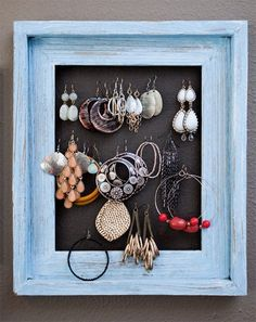 Display jewelry for easy access and decision making -- Homemade Home: Great DIY Projects for Bedrooms from Our Tours