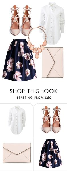 """Spring Blues"" by thefashionpixie on Polyvore featuring rag & bone, Valentino, Rebecca Minkoff, Chicwish and Kendra Scott"