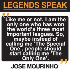 Jose Mourinho #quote #football #soccer #chelsea #cfc