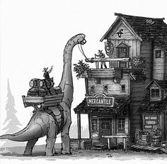 Working dinosaurs are my favorite dinosaurs.