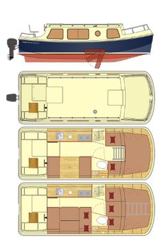 Have you been thinking about building your own boat, but think it may be too much hassle? Don't give up on your dream just yet! It is true that boat plans can be pretty complicated. Boat Building Plans, Boat Plans, Boat Furniture, Shanty Boat, Cabin Cruiser, Build Your Own Boat, Boat Interior, Canal Boat, Kabine