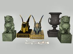 I'm not really sure these sphinx statues are accurate.  I've seen several dug up from there, and none I saw ever had wings.  But hey, I'm sure ancient Egyptian Sims wouldn't object.