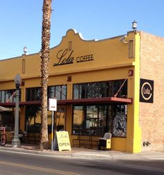 Lola's Coffee House - Phoenix,  AZ  This is a vintage building that has been rehabilitated and turned into a delightful coffee shop in downtown Phoenix.