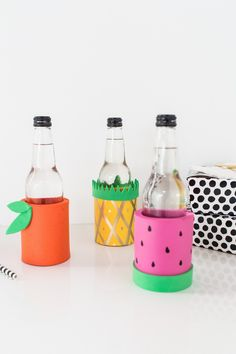 In case you were looking for a budget friendly fruit trend project, these DIY Fruit koozies are sure to fit the bill and be the perfect summer gift...